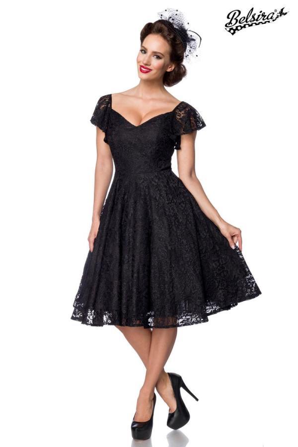 Schwingkleid schwarz-creme