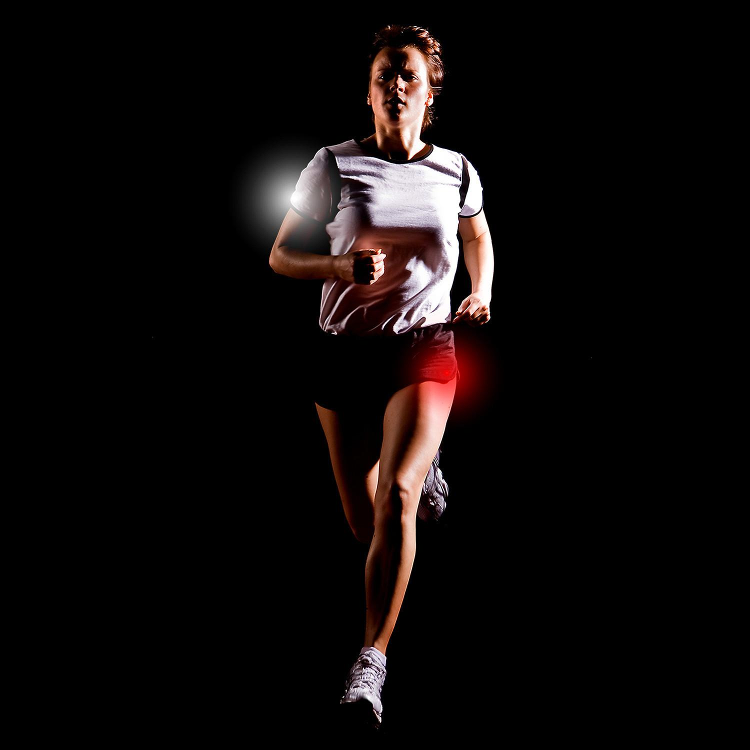 Athlights can stick to any piece of clothing anywhere from head to toe.