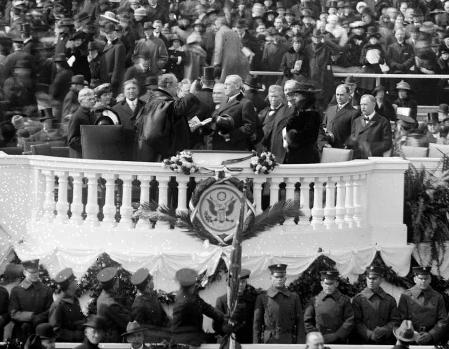 The+inauguration+of+President+Woodrow+Wilson.+Image+courtesy+of+Wikipedia.