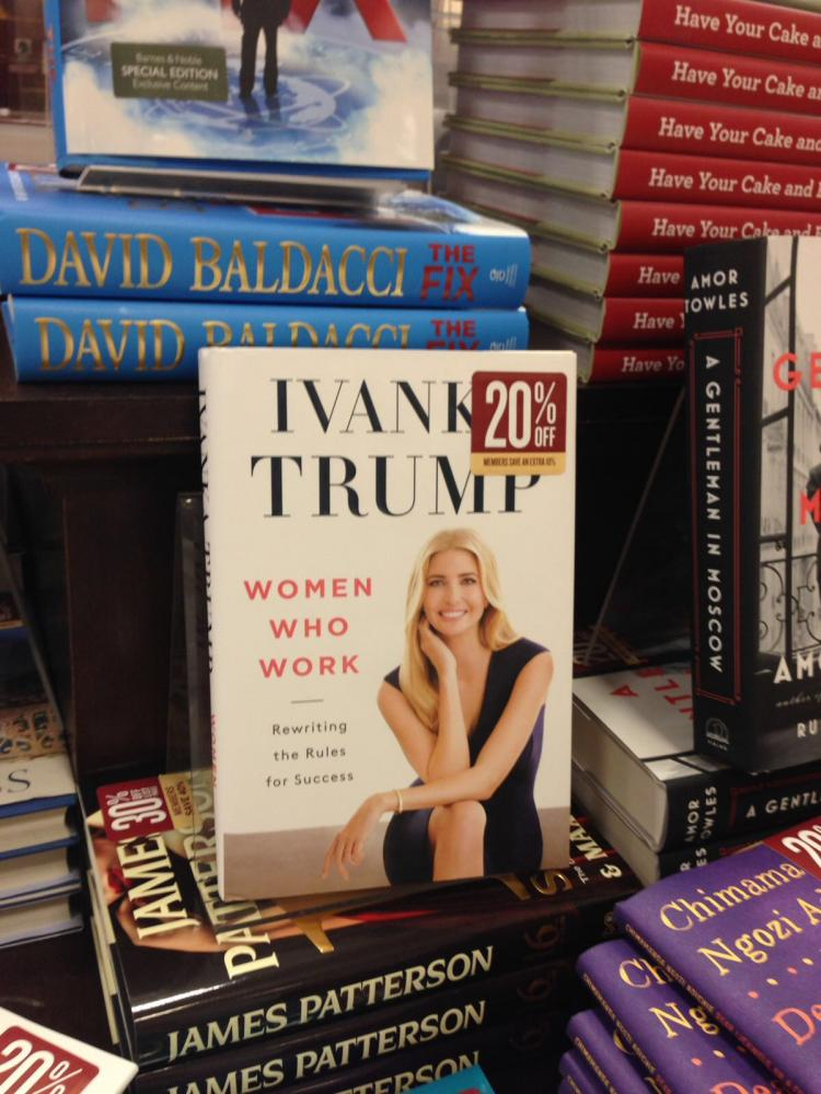 Ivanka Trump is working in consultation with the Office of Government Ethics. Her newest book,