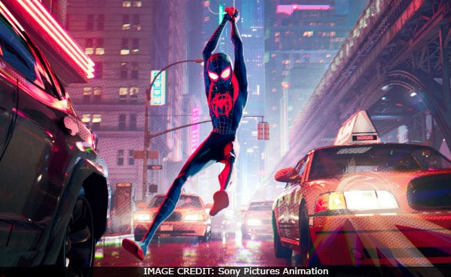 Spider-Man+swings+through+New+York+City.+Spider-Man%3A+Into+the+Spiderverse+was+released+on+December+14.