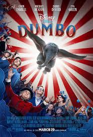 "The theatrical release poster for Tim Burton's 2019 reimaging of the classic children's movie ""Dumbo"". At the end of its opening weekend the film held a score of 50 percent on Rotten Tomatoes."