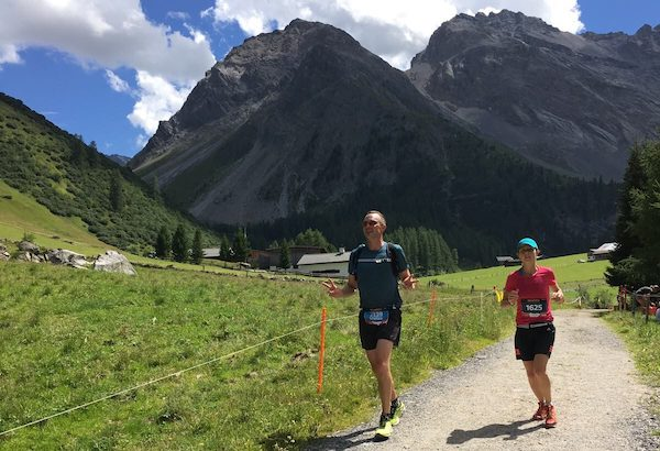 Stefan unterwegs am SwissAlpine Marathon