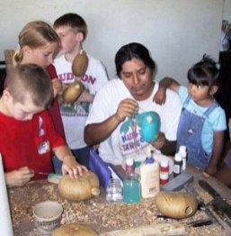Rattle making with Hopi artist