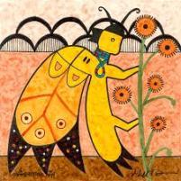 butterflySpiritGathersPollen-GeraldDawavendewa