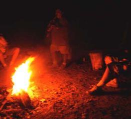 Canyon de Chelly campfire circle with Navajo leader.