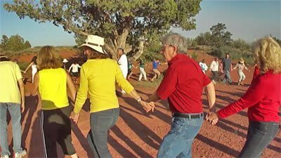 Solar eclipse ceremony we held in Sedona. Photo by Sandra Cosentino.
