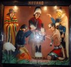 Navajo Mural in the El Tovar dining room. Photo by Sandra Cosentino.