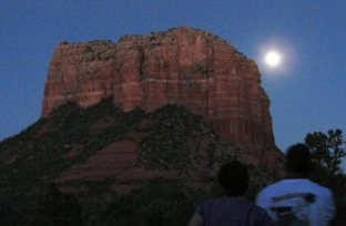 Sedona full moon circle, mystic insights, solo circle, ceremony