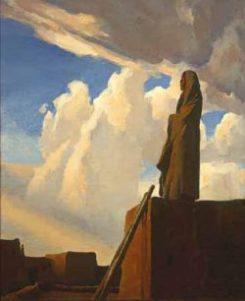 Maynard Dixon painting of Hopi.