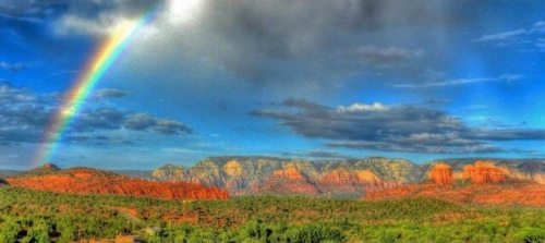 Sedona panoramic photo by Rusty Albertson