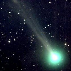 Meteor entering earth atmosphere as a fireball.