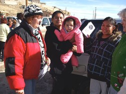 Our delivery group had a lot of fun meeting Hopi families