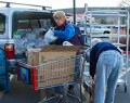 loading up fresh food in Sedona