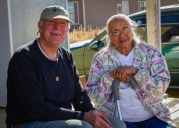 Elder to elder by Jackie Klieger: Michael Van Atta with new Hopi friend.