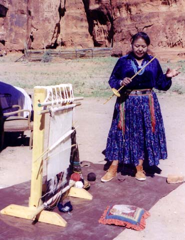 Canyon de Chelly, Navajo weaver