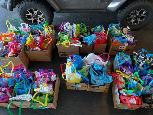 Gift bags for Hopi Foster care youth