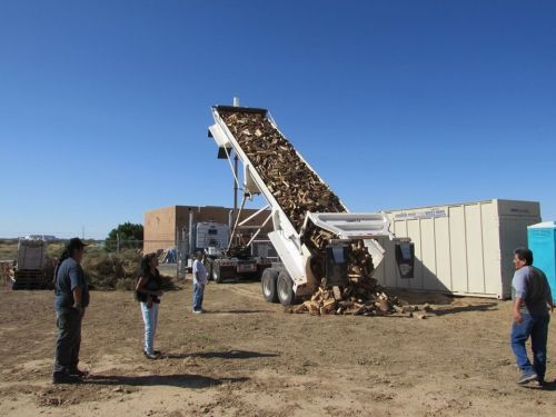 Megaload of firewood we bought for Hopi winter heat; Red Feather managed the logistics and delivery to Hopi, September 2019