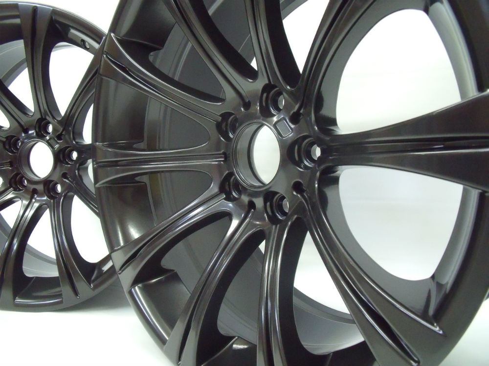 Powder Coating Grey Rims