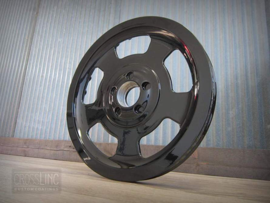 Pulley Sprocket in Gloss Black