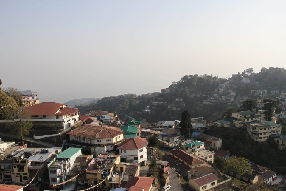 The first sight of the full landscape of Mussoorie