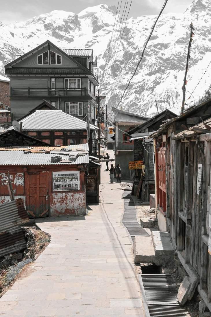 Kalpa Village - In the middle of Kalpa Village