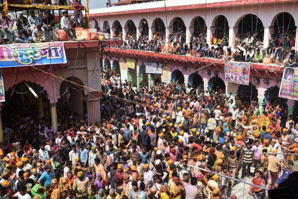 The large gathering at Dauji Temple, Badeo