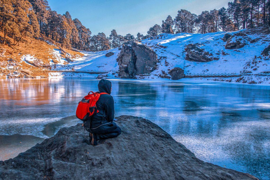 Frozen Serolsar Lake in Winter's