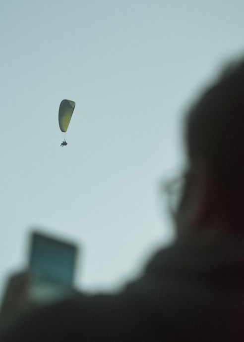 Photograph Paragliders from ground