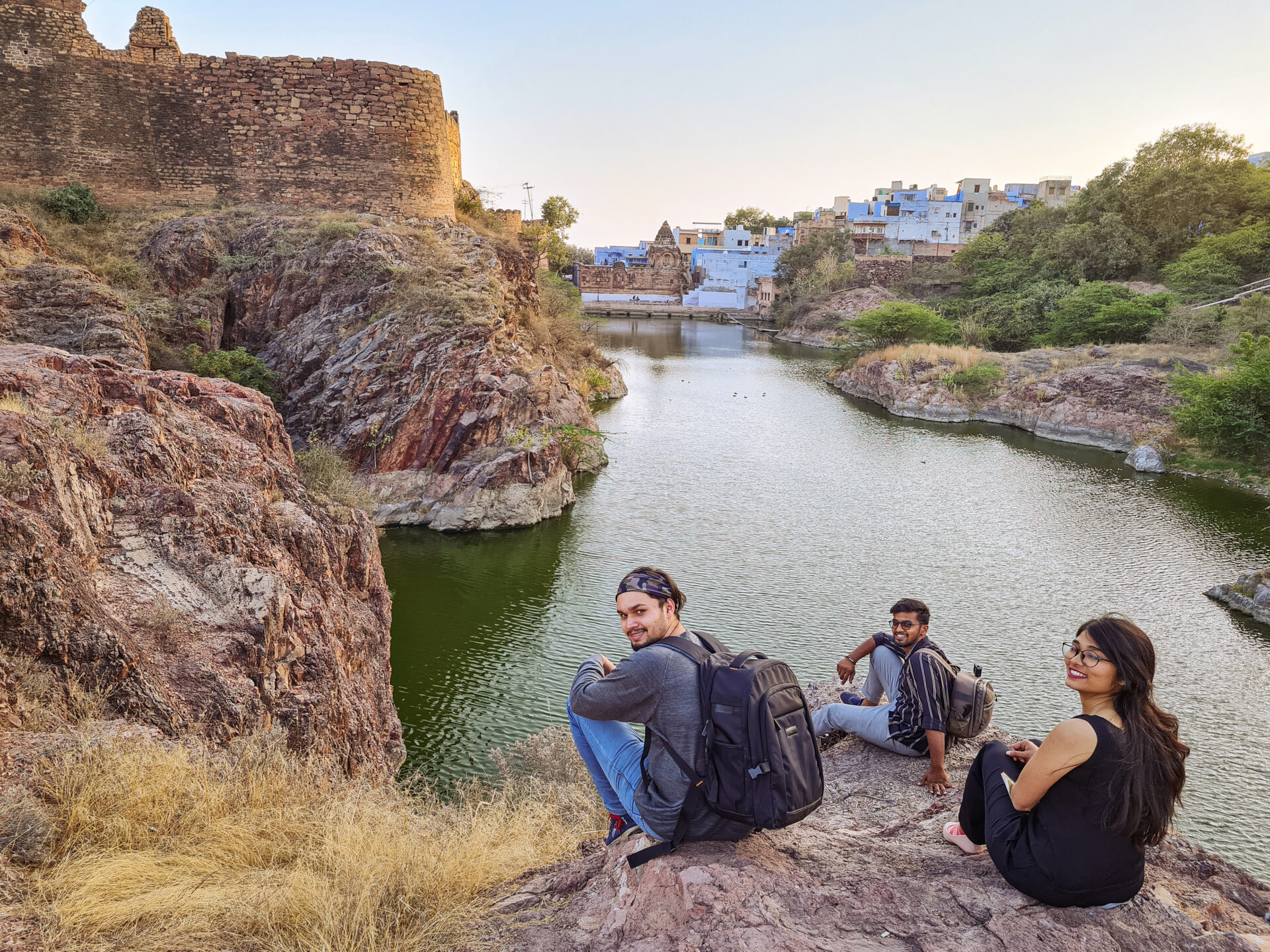 Witnessing Sunset in Jodhpur at Rao Jodha Desert Rock Park