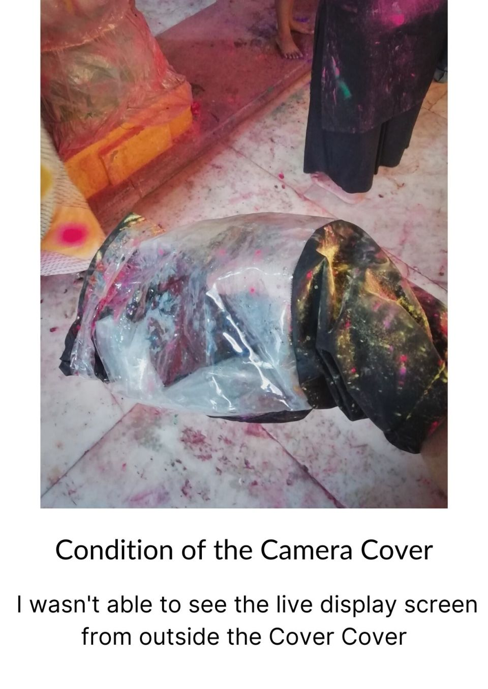 Condition of the Camera Cover During the Mathura Holi