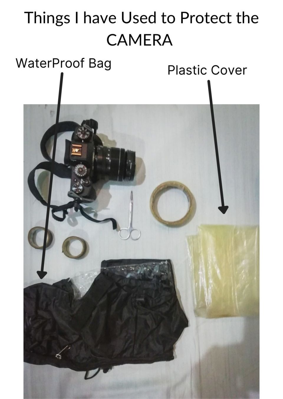 Things I have Used to Cover the Camera During Mathura Holi Festival