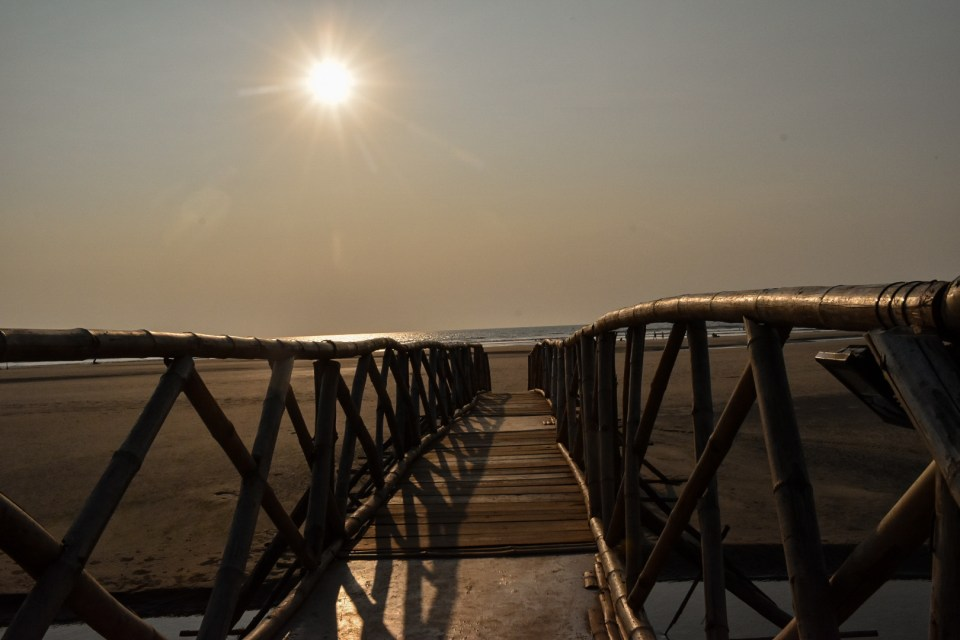 Wooden Bridge at the Mandrem Beach