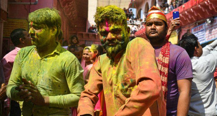 Person Enjoying the Huranga Holi