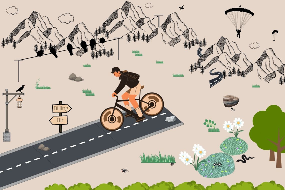 'A Surprising Adventure of Cycling Downhill from Asia's Highest Paragliding Spot'
