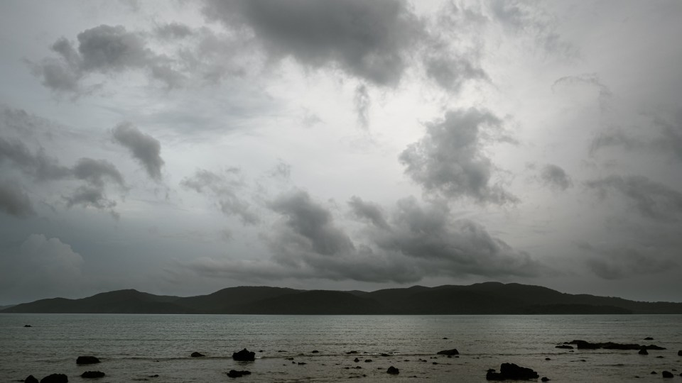 Dark clouds were the reason that we couldn't able to see the sunset at Chidiya Tapu