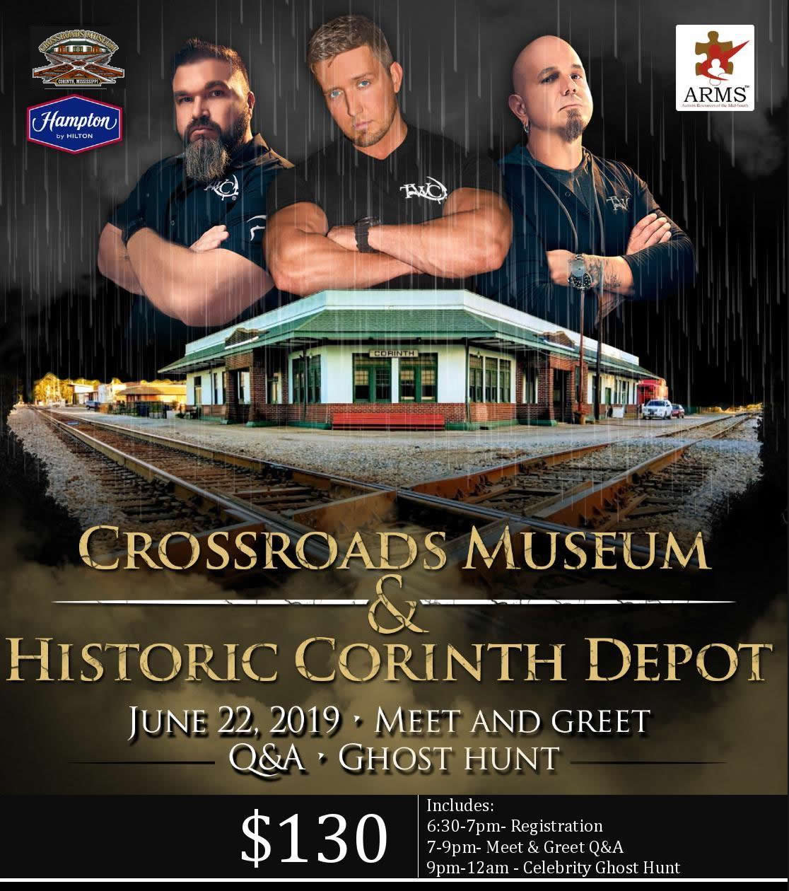 Crossroads Museum Celebrity Ghost Hunt | Crossroads Museum