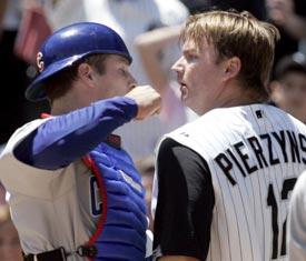 Here's what A.J. Pierzynski (right) looks like.