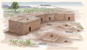 Pueblo I Houses   Pueblo Indian History for Kids