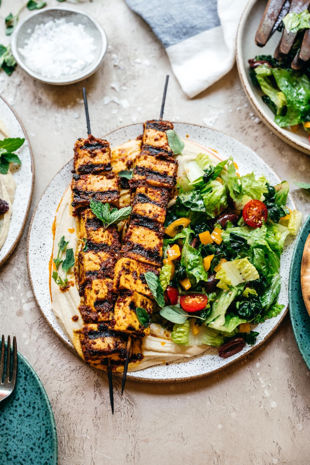 Mediterranean Grilled Tofu