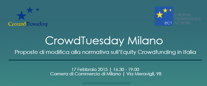 Crowdtuesday Milano 2015 equity crowdfunding