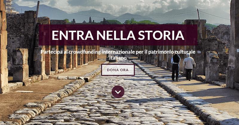 LoveItaly crowdfunding beni culturali