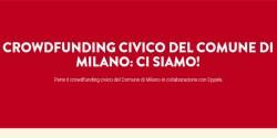 Crowdfunding civico Eppela Comune Milano