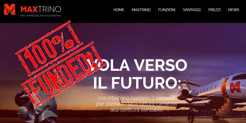 Maxtrino finanziata equity crowdfunding starsup