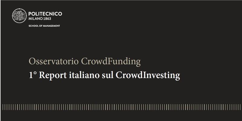 Report Crowd Investing politecnico milano