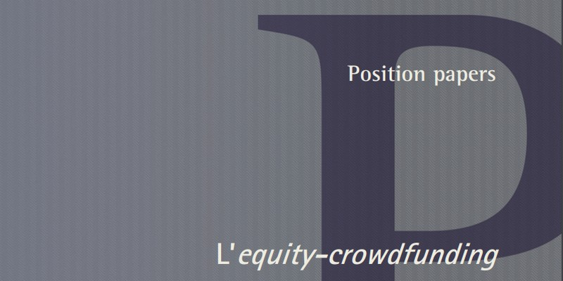 Position paper consob commercialisti equity crowdfunding