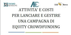 Report Crowd Advisors attività costi per campagne equity crowdfunding