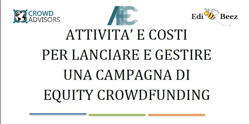 Report Crowd Advisors attività costi per campagne equity crowdfunding