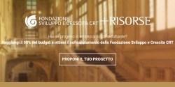 Fondazione bancaria CRT cofinanzia campagne di donation crowdfunding