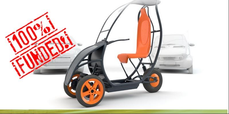 Anche l'innovativo triciclo elettrico Scuter chiude il round di equity crowdfunding su Mamacrowd